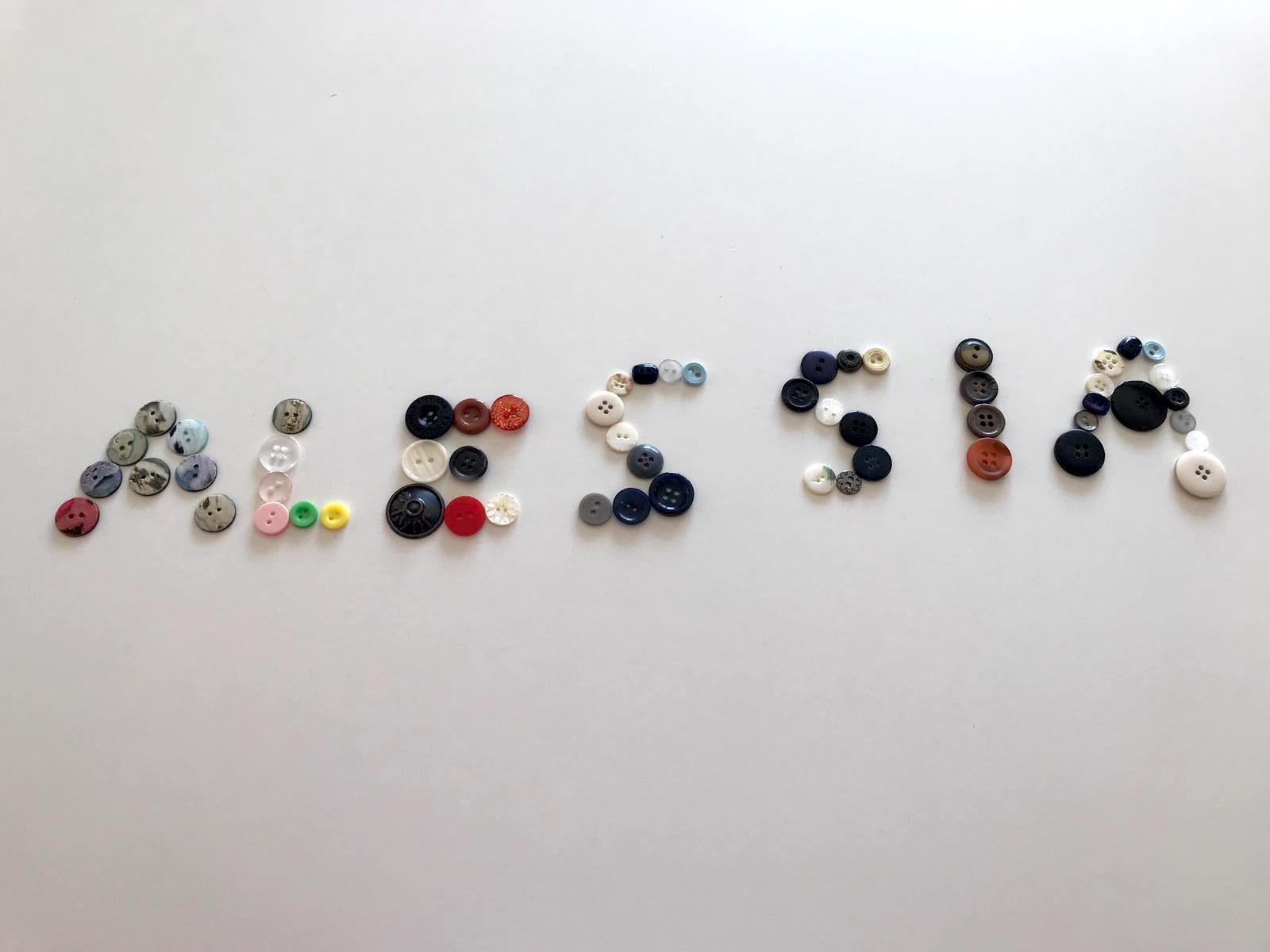 Il mio nome con i bottoni (Alessia)