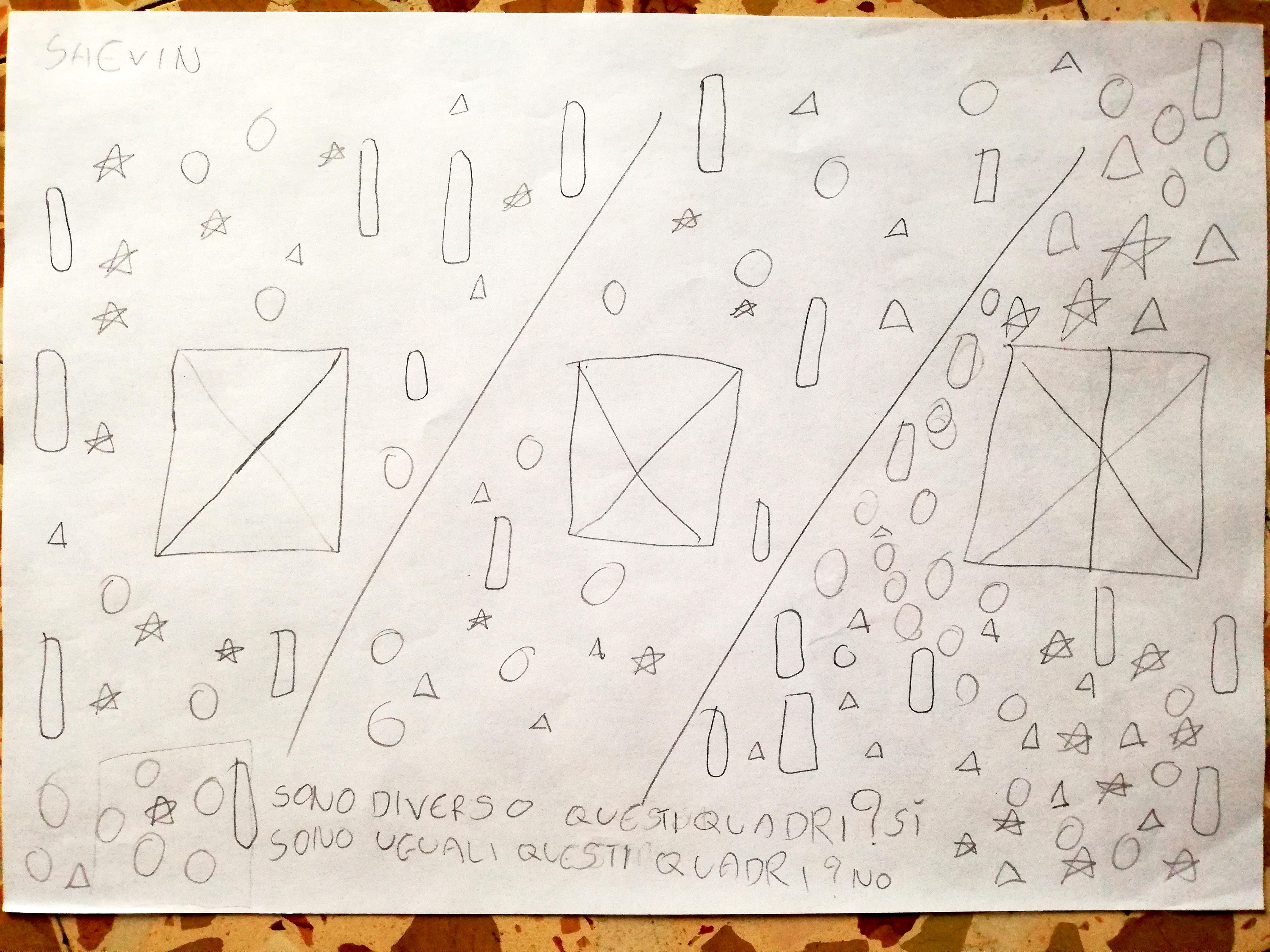 Pioggia di numeri e forme (Shevin)